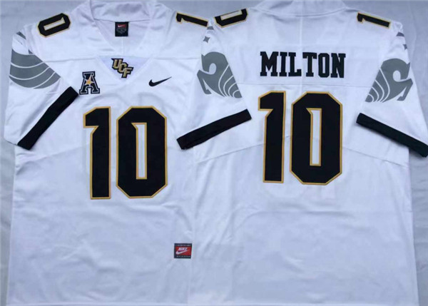 UCF Knights 10 Mckenzie Milton White College Football Jersey