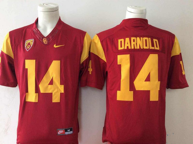 USC Trojans 14 Sam Darnold Red College Football Jersey