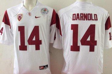 USC Trojans 14 Sam Darnold White College Football Jersey