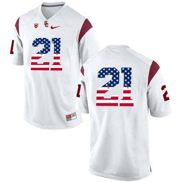 USC Trojans 21 Adoree' Jackson White USA Flag College Football Jersey