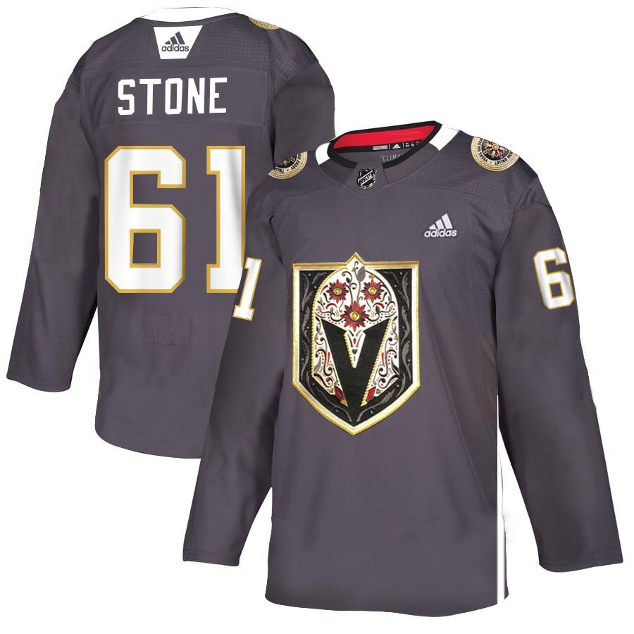 Vegas Golden Knights 61 Mark Stone Gray Dia De Los Muertos Adidas Jersey