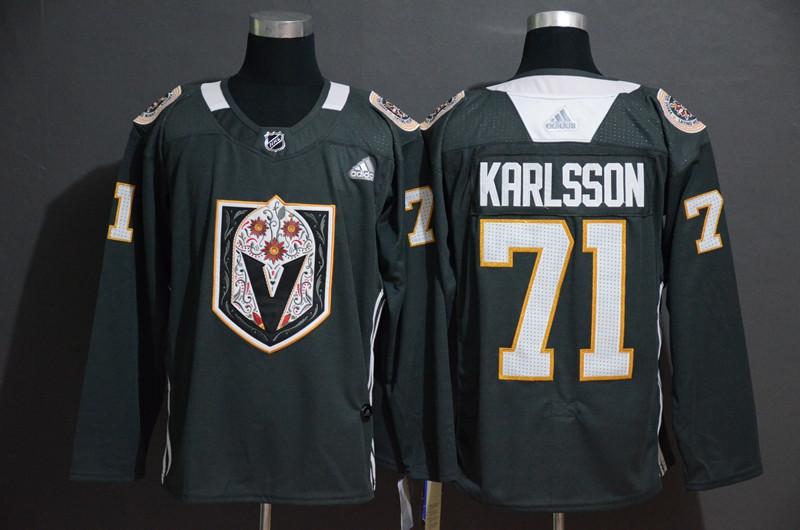 Vegas Golden Knights 71 William Karlsson Gray Dia De Los Muertos Adidas Jersey