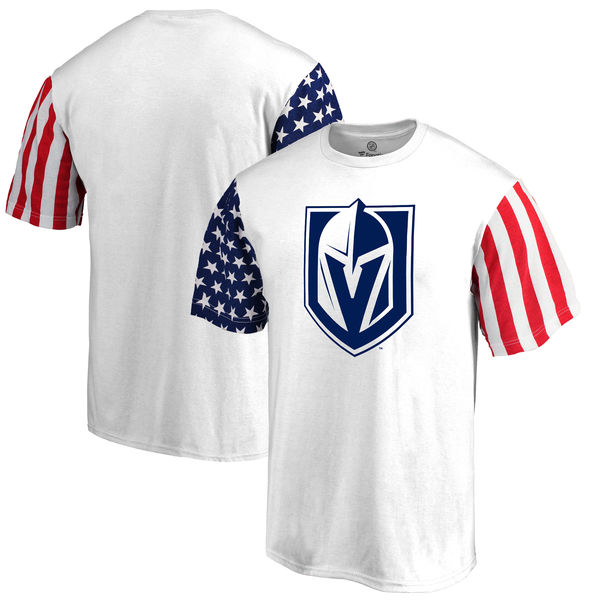 Vegas Golden Knights Fanatics Branded Stars & Stripes T-Shirt White