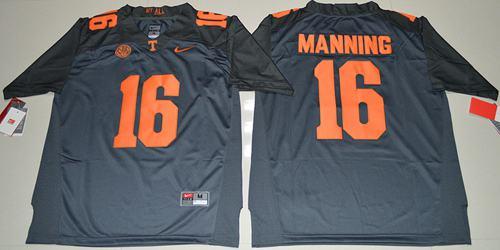 Vols #16 Peyton Manning Grey 2016 Stitched NCAA Jersey