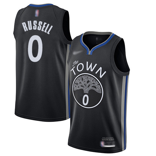 Warriors #0 D'Angelo Russell Black Basketball Swingman City Edition 2019 20 Jersey