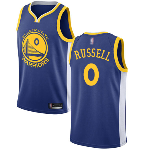Warriors #0 D'Angelo Russell Blue Basketball Swingman Icon Edition Jersey
