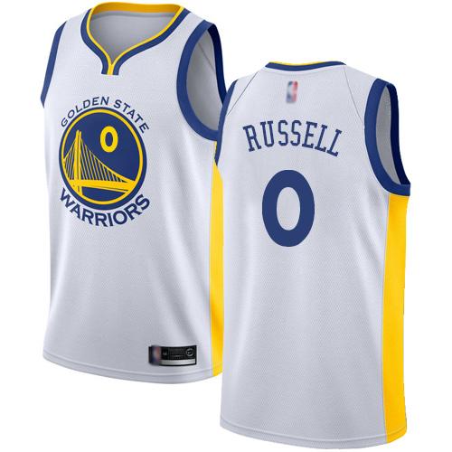 Warriors #0 D'Angelo Russell White Basketball Swingman Association Edition Jersey