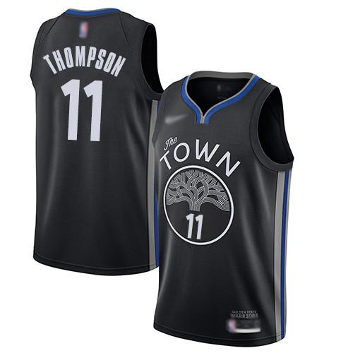 Warriors #11 Klay Thompson Black Basketball Swingman City Edition 2019 20 Jersey