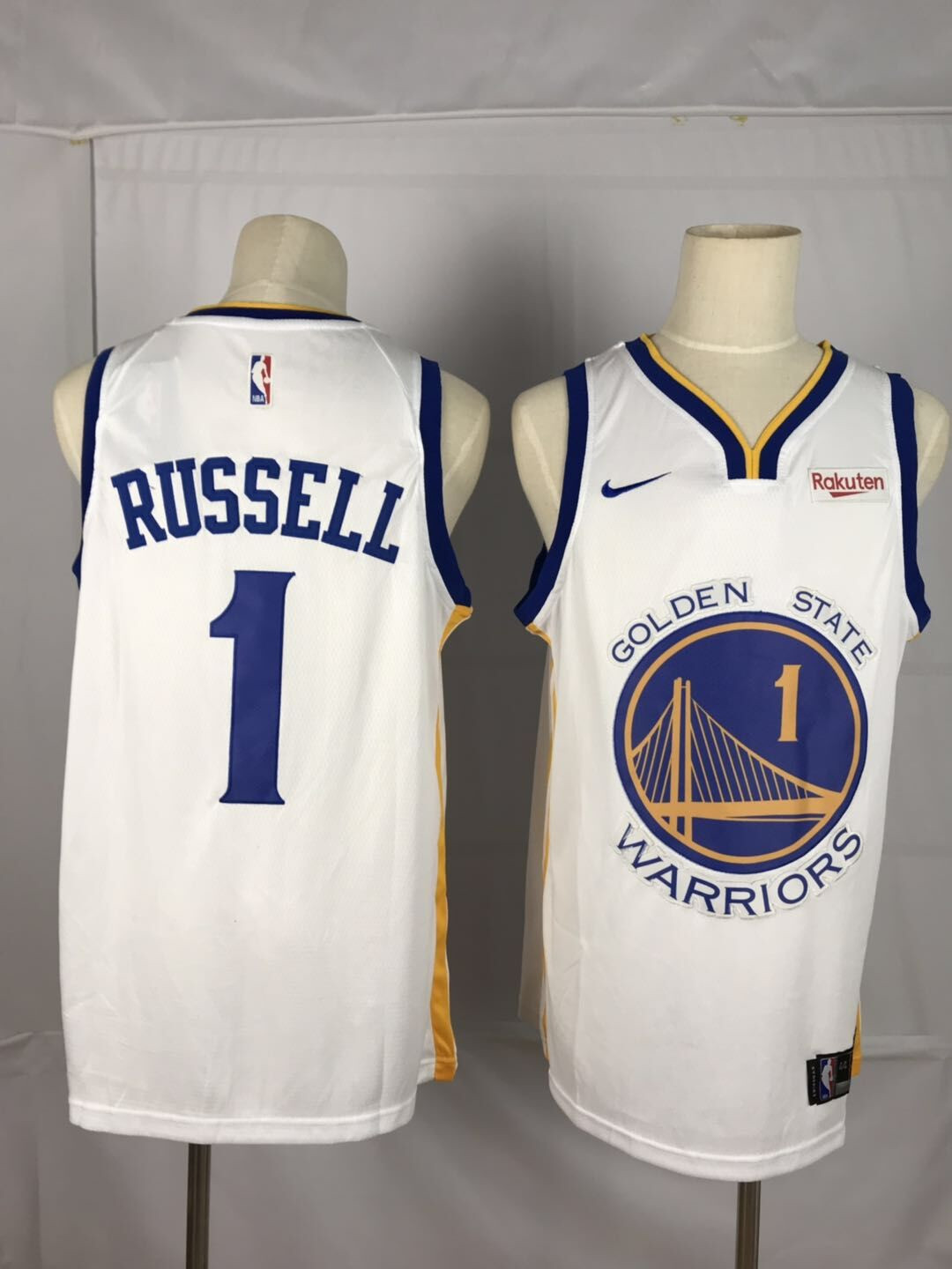 Warriors 1 D'angelo Russell White City Edition Nike Swingman Jersey