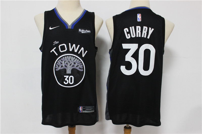 Warriors 30 Stephen Curry Black 2019-20 City Edition Nike Swingman Jersey