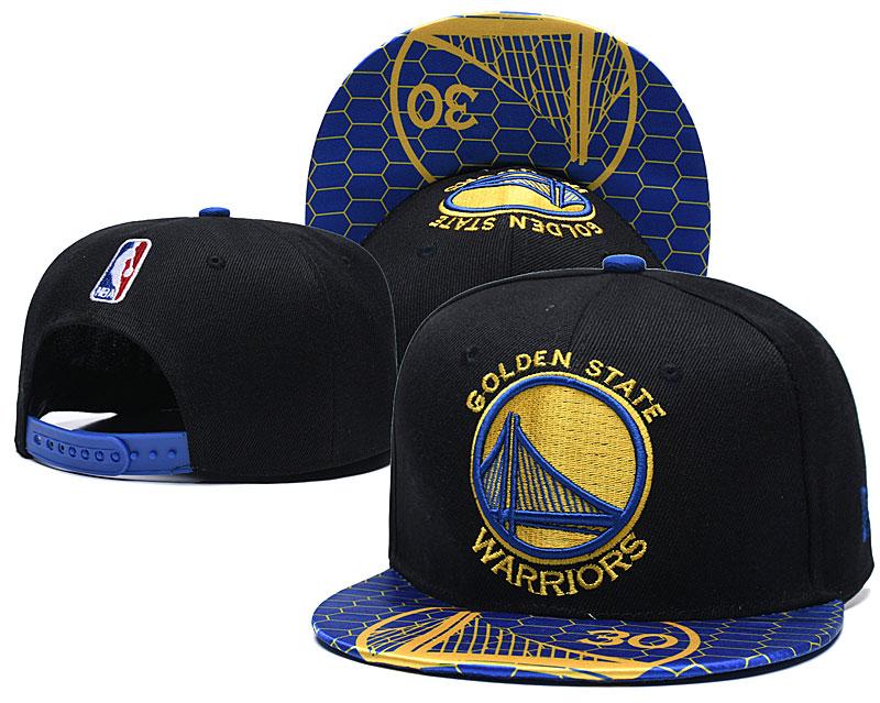 Warriors Team Logo Black Blue Adjustable Hat TX