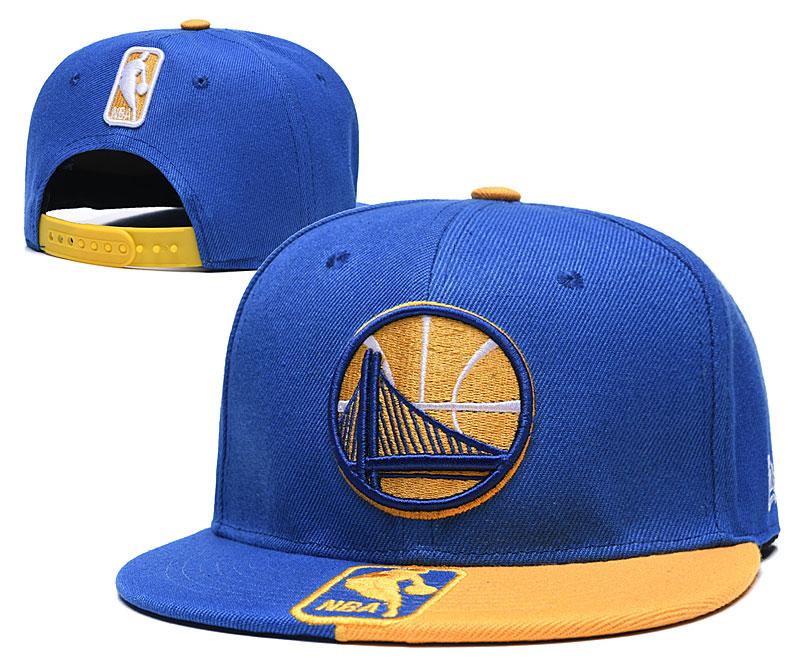 Warriors Team Logo Blue Yellow Adjustable Hat GS