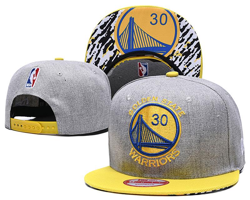Warriors Team Logo Gray Yellow Adjustable Hat TX