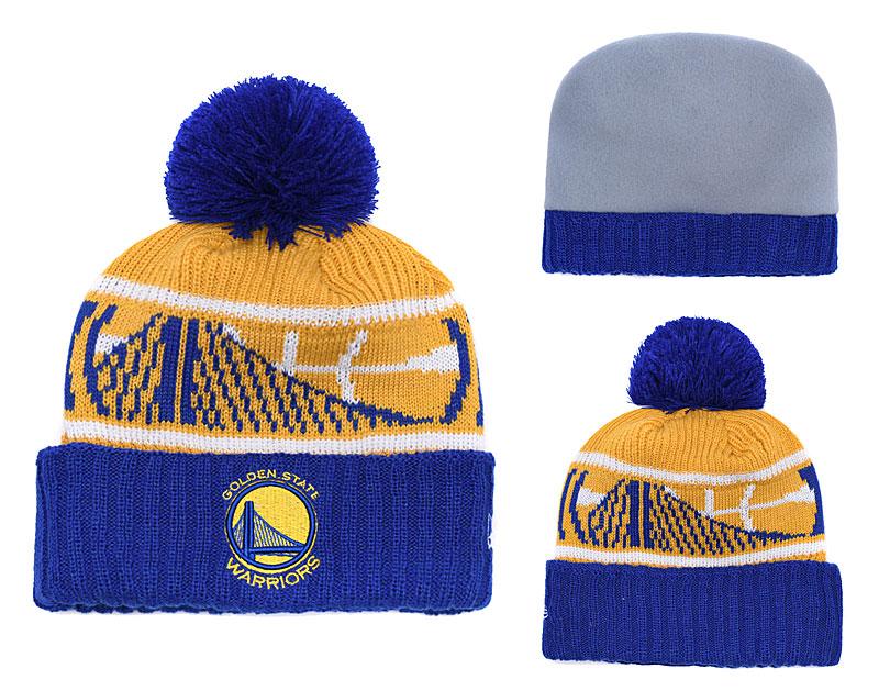 Warriors Team Logo Yellow Knit Hat YD