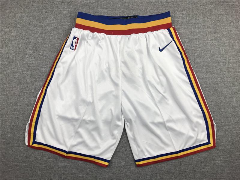 Warriors White Nike Shorts