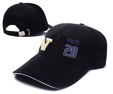 Washington Huskies 20 Markelle Fultz Black College Basketball Adjustable Peaked Hat
