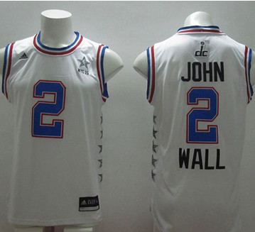 Washington Wizards #2 John Wall White 2015 All Star Stitched NBA Jersey