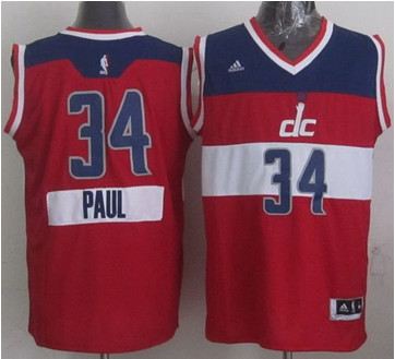 Washington Wizards #34 Paul Pierce Red 2014-15 Christmas Day Stitched NBA Jersey