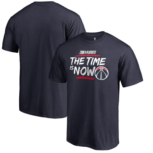 Washington Wizards Fanatics Branded 2018 NBA Playoffs Bet Slogan T-Shirt Navy