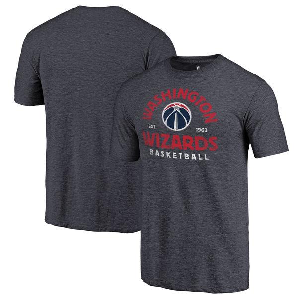 Washington Wizards Fanatics Branded Navy Vintage Arch Tri-Blend T-Shirt