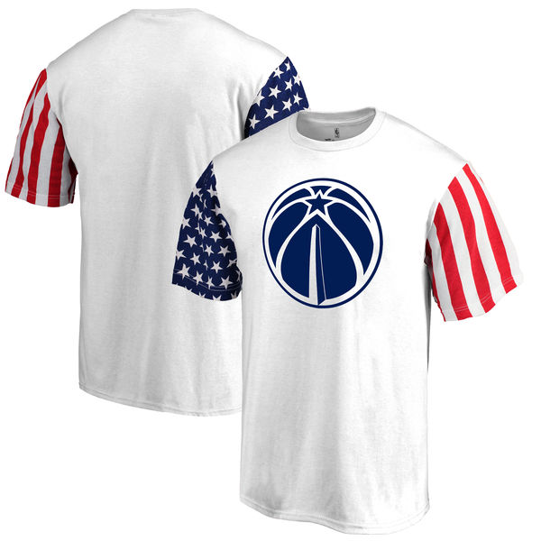 Washington Wizards Fanatics Branded Stars & Stripes T-Shirt White