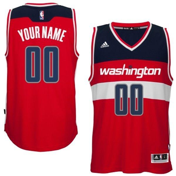 Washington Wizards Red Men's Customize New Rev 30 Jersey