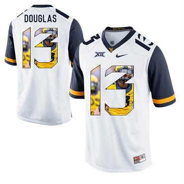 West Virginia Mountaineers White Rasul Douglas College Football Portrait Jersey