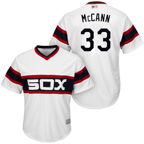 White Sox #33 James McCann White Alternate Home Cool Base Stitched Youth Baseball Jersey