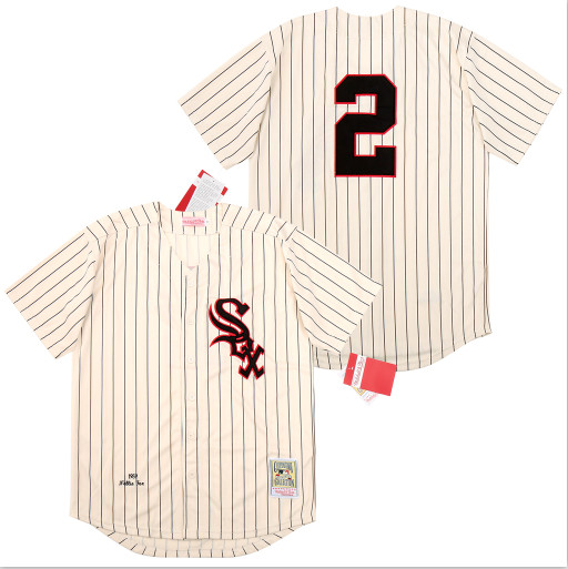 White Sox 2 Nellie Fox Cream 1959 Cooperstown Collection Jersey