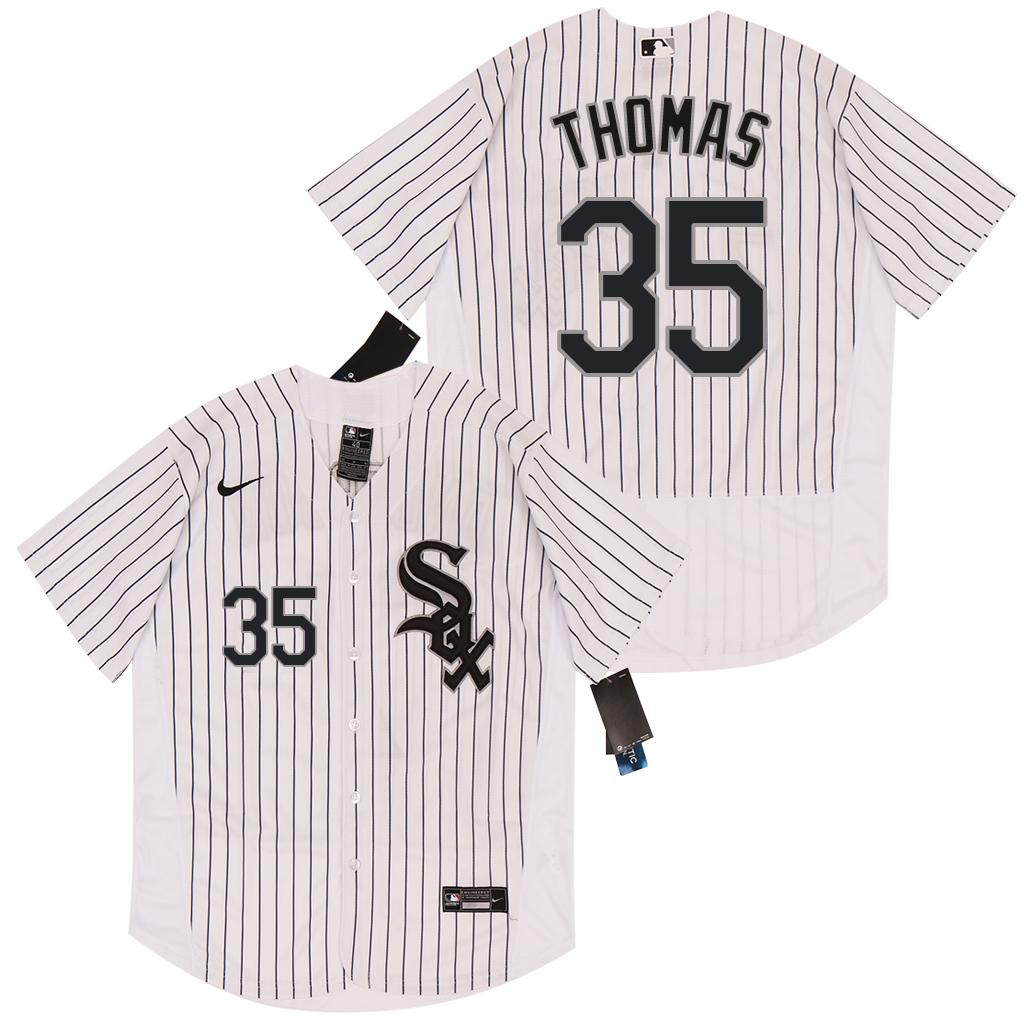 White Sox 35 Frank Thomas White 2020 Nike Flexbase Jersey