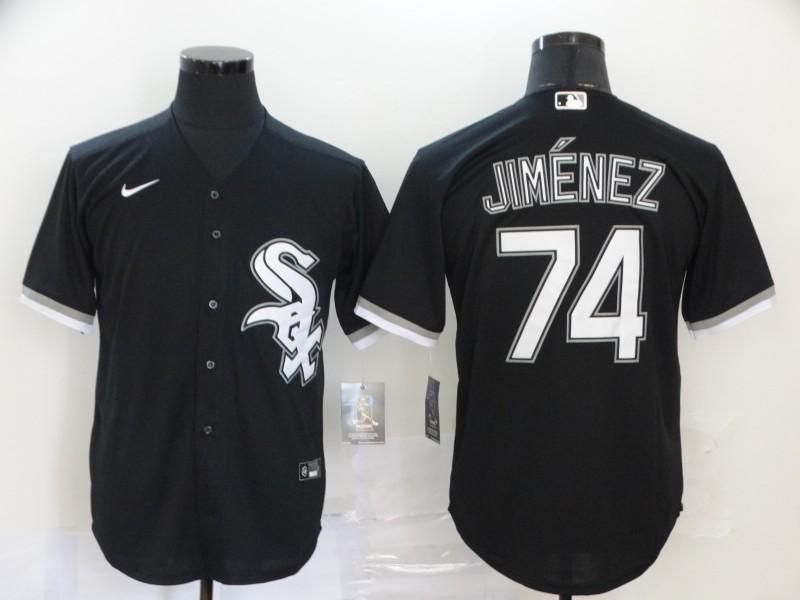 White Sox 74 Eloy Jimenez Black 2020 Nike Cool Base Jersey