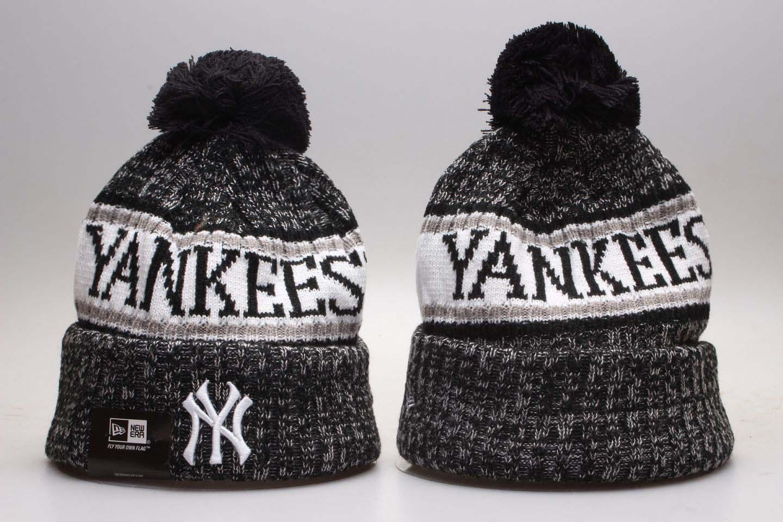 White Sox Fresh Logo White Knit Hat With Pom YP