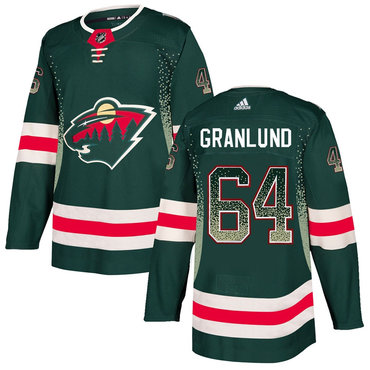 Wild 64 Mikael Granlund Green Drift Fashion Adidas Jersey