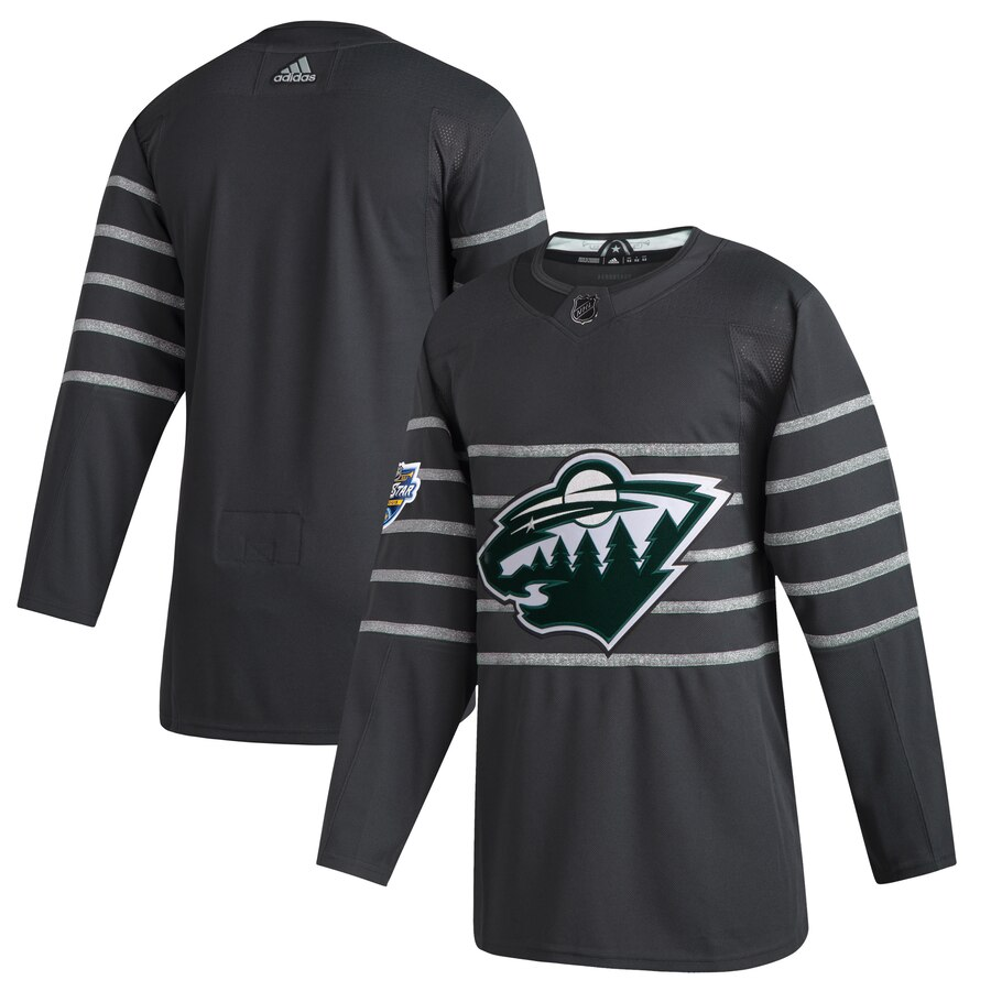 Wild Blank Gray 2020 NHL All-Star Game Adidas Jersey