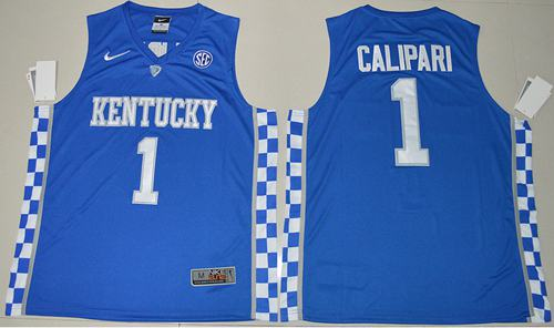 Wildcats #1 John Calipari Royal Blue Basketball Elite Stitched NCAA Jersey