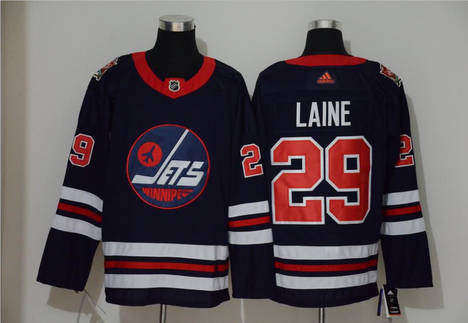 Winnipeg Jets 29 Patrik Laine Navy 2019 Heritage Classic Breakaway Adidas Jersey