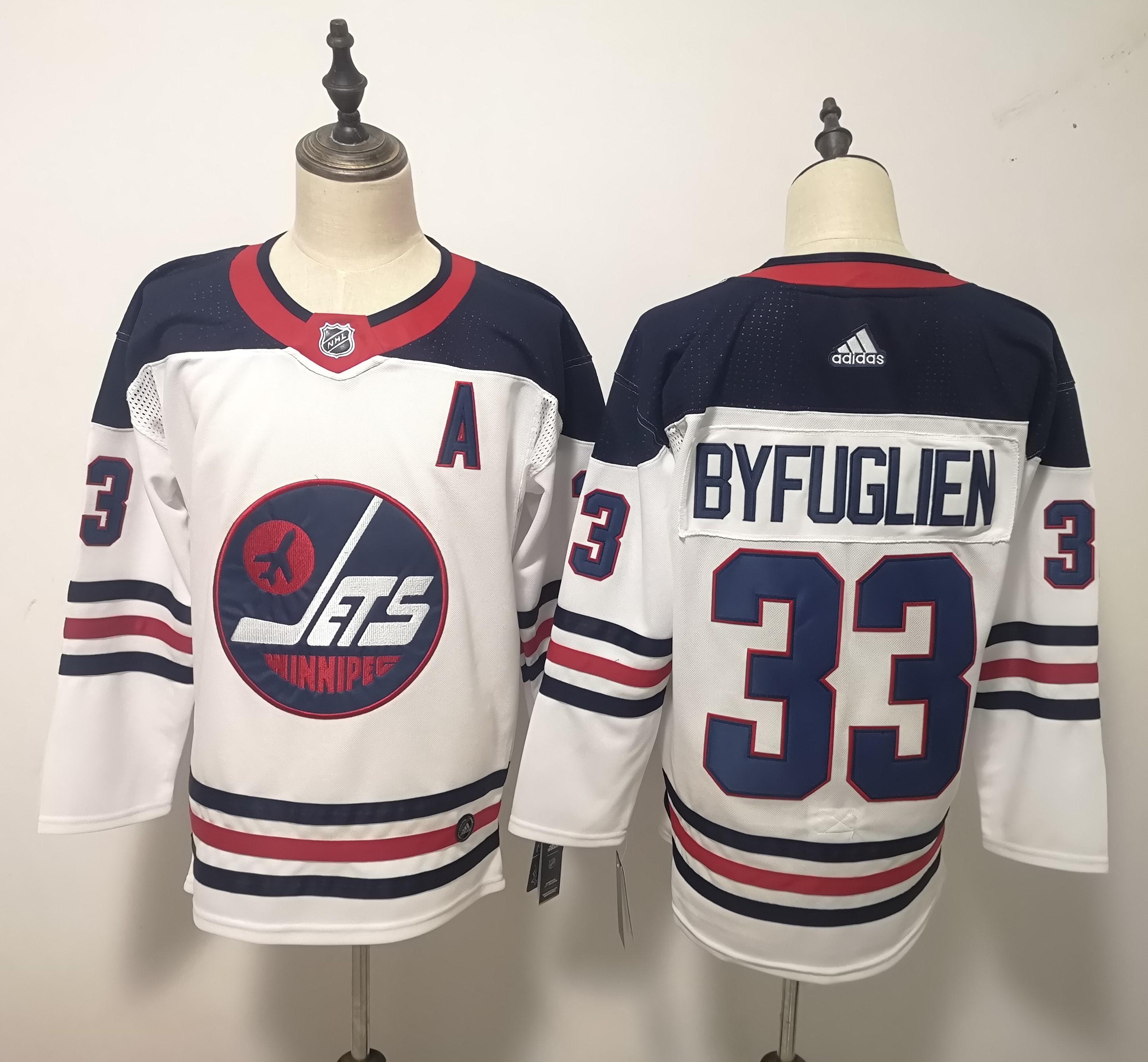 Winnipeg Jets 33 Dustin Byfuglien White Breakaway Heritage Adidas Jersey