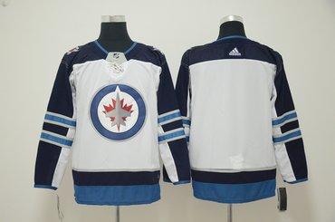 Winnipeg Jets Blank White Adidas Jersey