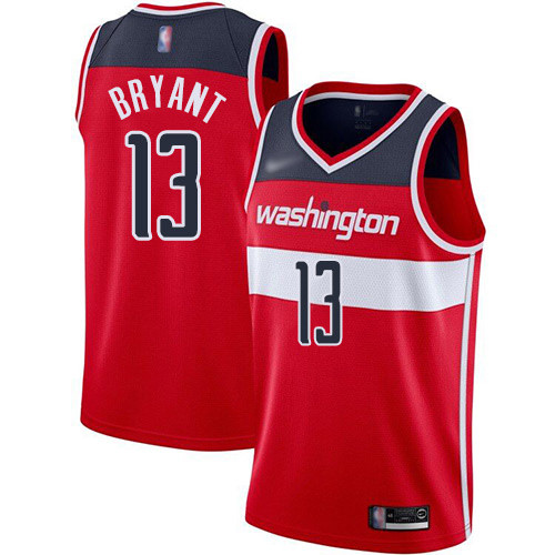 Wizards #13 Thomas Bryant Red Basketball Swingman Icon Edition Jersey