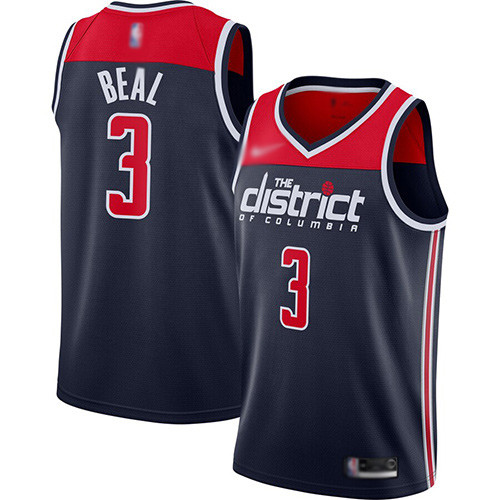 Wizards #3 Bradley Beal Navy Blue Basketball Swingman Statement Edition 2019 2020 Jersey