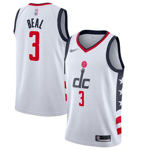Wizards #3 Bradley Beal White Basketball Swingman City Edition 2019 20 Jersey