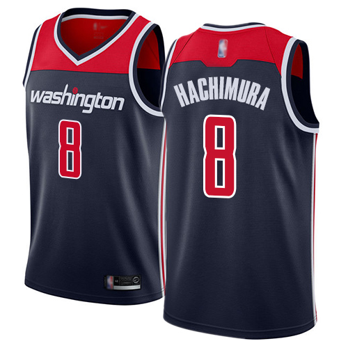Wizards #8 Rui Hachimura Navy Blue Basketball Swingman Statement Edition Jersey