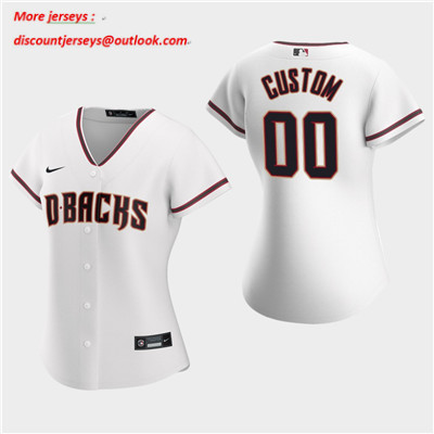 Women's Custom Arizona Diamondbacks 2020 White Home Replica Jersey
