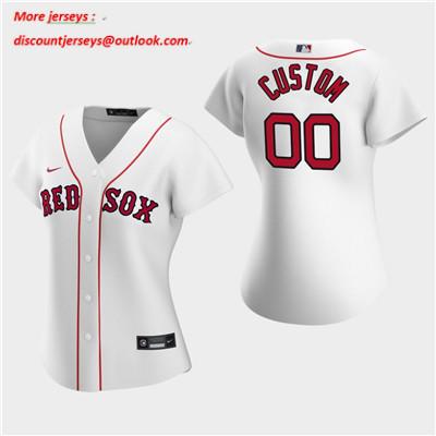 Women's Custom Boston Red Sox 2020 White Home Replica Jersey