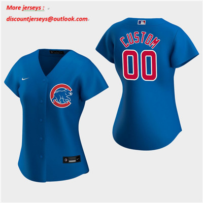 Women's Custom Chicago Cubs 2020 Royal Alternate Replica Jersey
