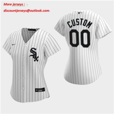 Women's Custom Chicago White Sox 2020 White Home Replica Jersey