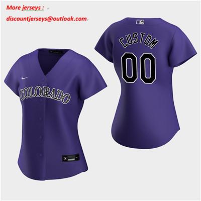 Women's Custom Colorado Rockies 2020 Purple Alternate Replica Jersey