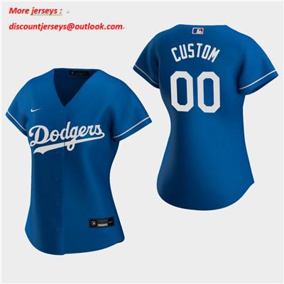 Women's Custom Los Angeles Dodgers 2020 Royal Alternate Replica Jersey