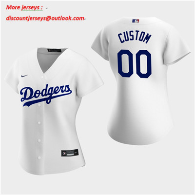 Women's Custom Los Angeles Dodgers 2020 White Home Replica Jersey