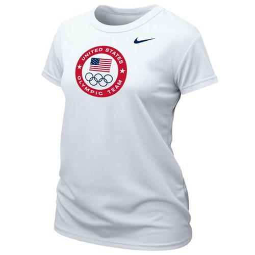 Women's Team USA Nike Logo Performance T-Shirt White
